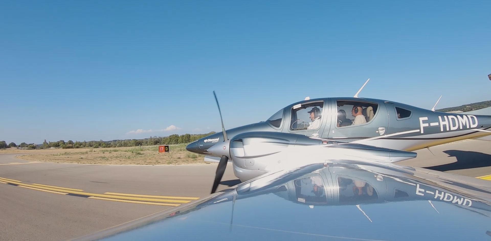 Le DA62 en vol - Tournage de l'émission « Auto Mobile» avec ATA by Pelletier
